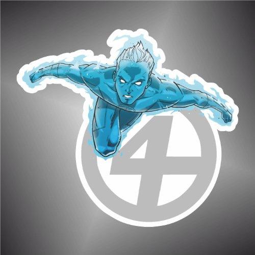 Kind Fantastisch 4 Menschliche Fackel (Aufkleber - Sticker Die Fantastischen Vier Fantastic Four menschliche Fackel cartoon)