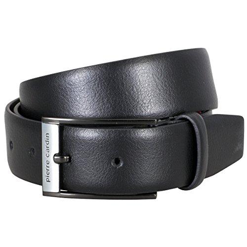 e03b30c275cc Pierre Cardin Mens leather belt Mens belt, leather belt curved, black