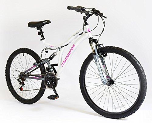 New Ladies/Womens White Muddyfox 20 Inch Dual Suspension Bikes - White - UK SIZES 1-1