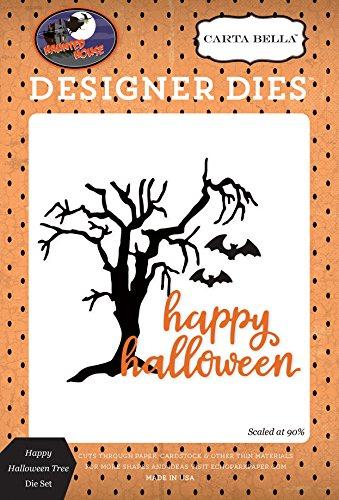 Echo Park Carta Bella Dies-Happy Halloween Tree