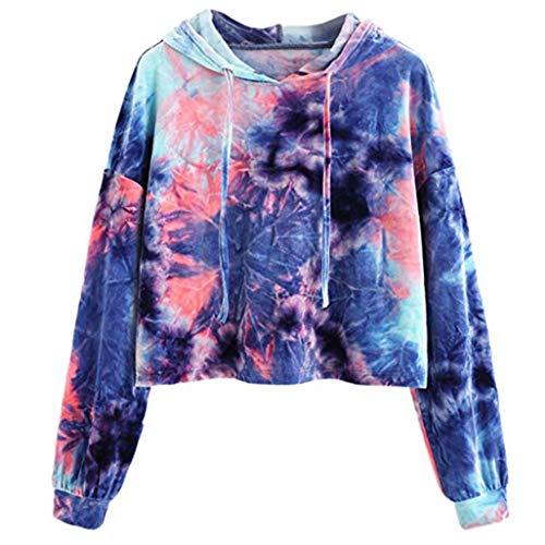 MIRRAY Damen Kapuzenpullover Hoodie Printed Patchwork Sweatshirt Langarm -