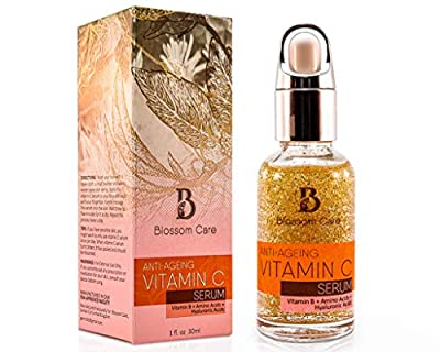 Vitamin C Serum for Face with Hyaluronic Acid - Anti Ageing and Anti Wrinkle Face Serum with Vitamin B and E - Skin Moisturiser for Men and Women - Natural Face Serum to Restore Collagen