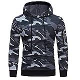 Kobay Herren Long Sleeve Camouflage Hoodie mit Kapuze Sweatshirt Tops Jacke Mantel Outwear