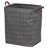 Sealskin Geometric Wäschekorb grau