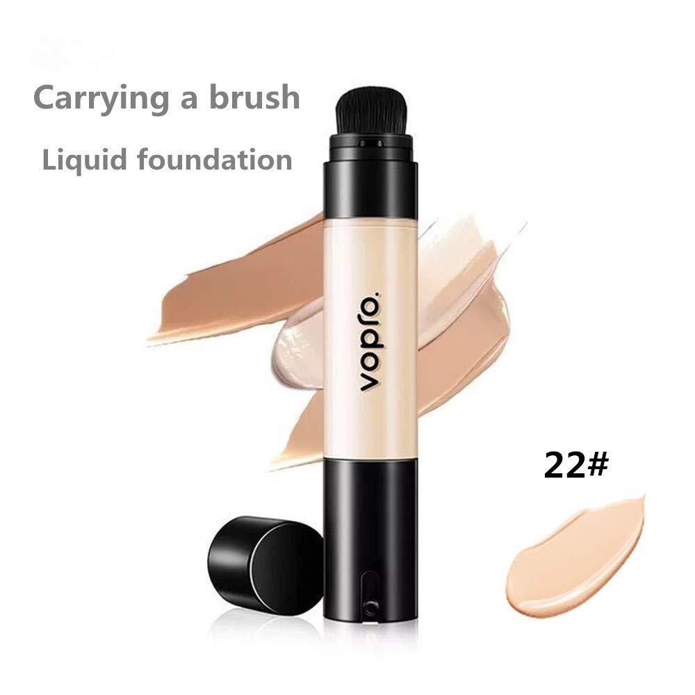 Corrector BB Cream, crema hidratante de larga duración, aclara el tono de la piel, base líquida impermeable (22#)