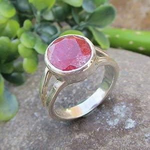 Ruby 925 Sterling Silver Ring Gemstone Jewelry