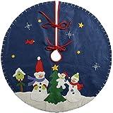 WeRChristmas–Cobertor para base de árbol de Navidad, diseño de muñeco de nieve, 90cm, tamañogrande, multicolor