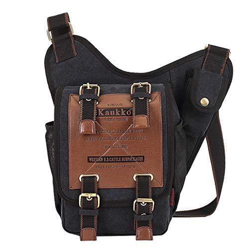 AIni Rucksack Herren Ritter Tasche Umhängetasche Canvas Bag Retro Mode Messenger Bag Schulrucksack Business Wandern Reisen Camping Tagesrucksack 2019 Neuheit