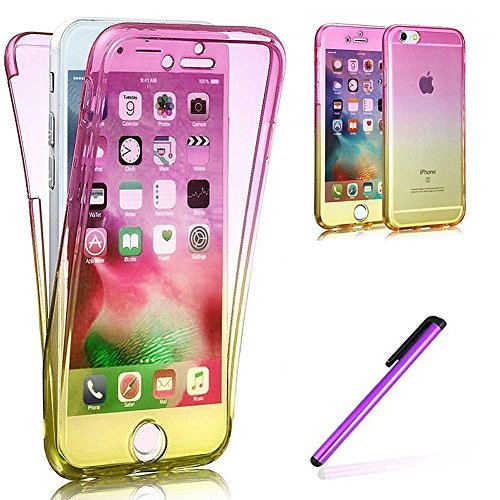 19fce7d94d6 iPhone 6S Hülle Silicone,iPhone 6S Hülle Glitzer,iPhone 6 Hülle Rosa,EMAXELERS  iPhone 6S Plating Gold TPU Bumper Case Soft Silikon ...
