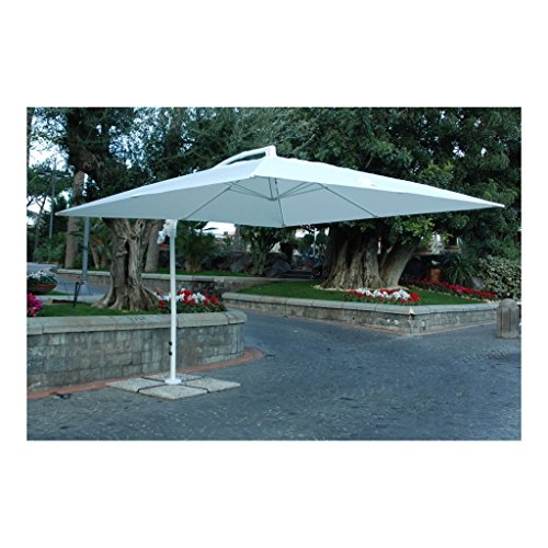 My_Garden M0429-08 Ombrellone Suitset, 300x300x270 cm, Bianco