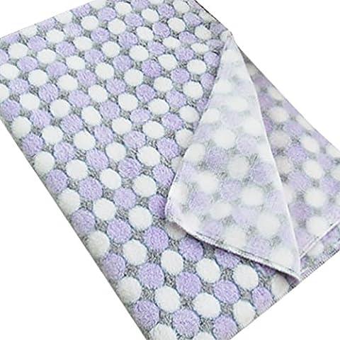 YOUJIA Manta Para Perro Gato Mascota Manta Blanket Cama Soft Mat Cubierta (Morado, L)