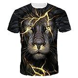 Angebote,Neue Deals,Herren T-Shirt Ronamick Unisex 3D Plus Größe Drucken Coole Pullover Kurzarm T-shirt Tops T Bluse (Schwarz, M)
