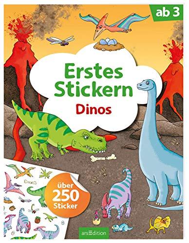 Erstes Stickern Dinos: Über 250 Sticker (Mein Stickerbuch) (Dinosaurier-sticker-buch)