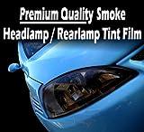 TIS (TM) 30cm x 100cm Medium Smoke Black Car / Motorbike Headlight Rear Lamp / Rearlight / Headlamp Tint Tinting Film