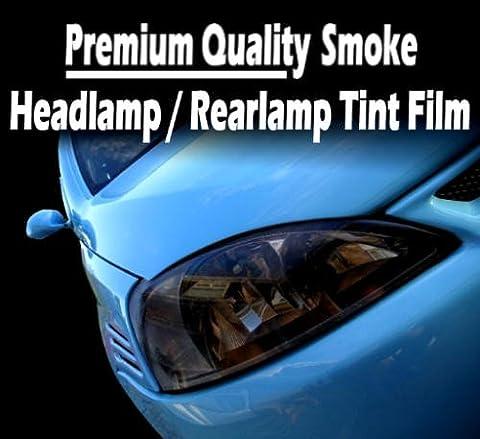 TIS (TM) 30cm x 100cm Medium Smoke Black Car / Motorbike Headlight Rear Lamp / Rearlight / Headlamp Tint Tinting