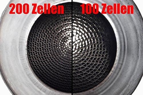 100 Zellen Metall Katalysator ( 100mm Durchmesser , 76mm Anschlüße ) (Kat Metall -)