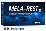 #1: Carbamide Forte Sleeping Aid Pills - Melatonin 10mg - Non Habit Forming - Improve Sleep - Natural Sleep Aid - Deep Sleep - MELA-REST (30 Softgel Capsules)