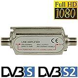TronicXL Profi DVBS2 DVB-S2 Satelliten-Leitungsverstärker Inline Breitband SAT Verstärker TV PreAmp Inlineverstärker