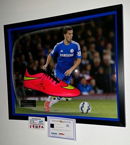 456802734 EDEN HAZARD of Chelsea Signed FOOTBALL BOOT – Chelsea Memorabilia