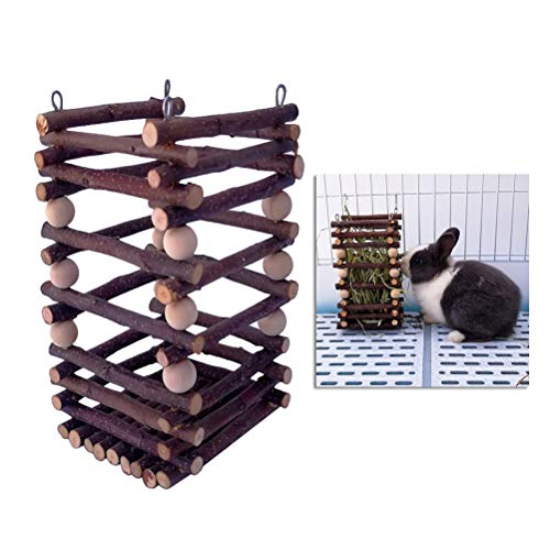 POPETPOP Bandeja heno Racks alimentación Conejos