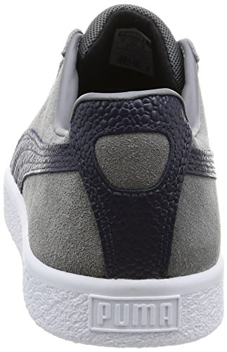Puma Clyde B & C Viola Camoscio Unisex Sneakers Scarpe Steel Gray-Peacoat