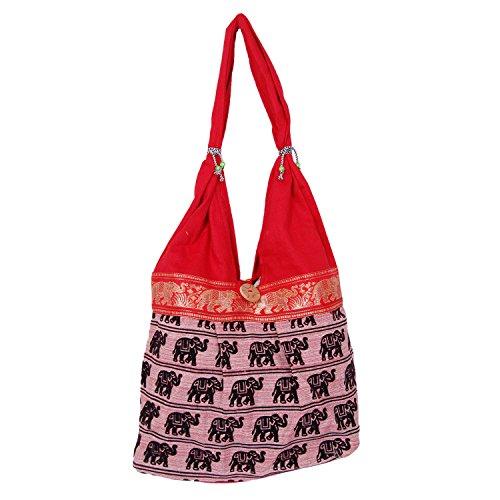 Womaniya Women's Handbag (Red) (Handicraft Jhola Bag)  available at amazon for Rs.205