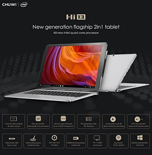 CHUWI Hi13 Tablet Windows10 4GB+64GB Dual Cameras HDMI + Keyboard