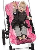 Wallaboo UNIVERSAL SCHONBEZUG für KINDERWAGEN / BEZUG Überzug für Kombi Wagen / Buggy ROSA Sweet Pink