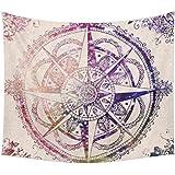 enipate elegante Bohemian tapiz de color Impreso decorativo Mandala tapiz indio Boho pared alfombra, algodón, 16, 130cmx150cm
