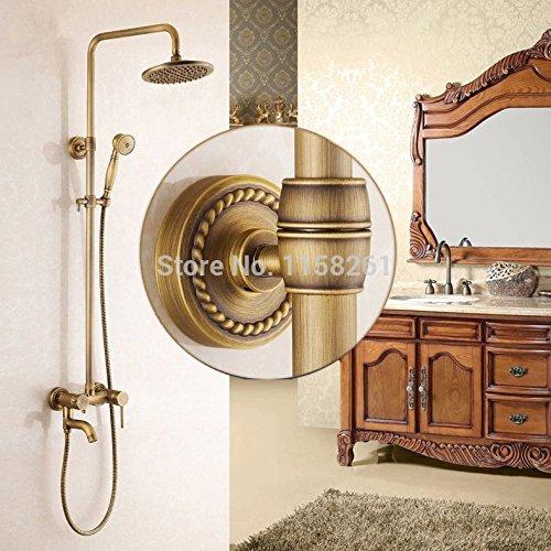 Nuovo Arrivo per Rainfall finitura in ottone anticato con spray doccia resistente ottone rubinetto Set Home Decoration 9139 Brown