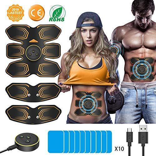 Ems 2000 Elektrische (ANLAN Muskelstimulation Elektrostimulation EMS Trainingsgerät, USB Muskelstimulator Elektrische Bauchmuskeltrainer Elektrostimuoren Fitness Geräte für Herren und Damen Zuhause)