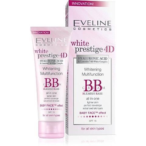 Eveline Cosmetics White Prestige 4D Whitening Multifunction BB Cream Blemish Base by Eveline (Blemish Base)