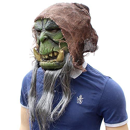 OOFAY Halloween Warcraft Maske Eco Latex Material Horror Lustige Kopfstützen Gespenstisch Beängstigende Maske Karneval Weihnachtsfeier Dekoration Erwachsene Kleidung Accessoires