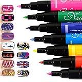Minetom 12 Farbe Nagel Kunst Stift polnischen Drawing Pen-Tools DIY Uv Gel Acryl Tipps Set Salon Beauty Einfach Zu Machen