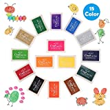 Tamponi per timbri, 15 colori Tampone di Inchiostro lavabili Rainbow Finger Ink Pad DIY Scrapbooking Pittura per Bambini