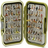 Lakeland Fishing Supplies Moscas Impermeables + 10, 25, 50, 100 o 204 Moscas secas Mixtas para Pesca con Mosca de Trucha, Mixture of Two Hook Sizes 12 & 14