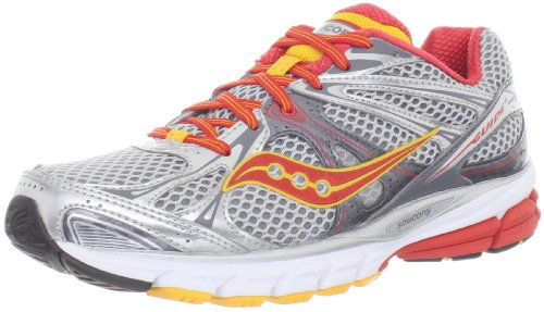 Saucony Progrid Guide 6 Womens, Silver/Red/Orange, 37.5 EUR, B - Saucony Progrid Guide Schuhe