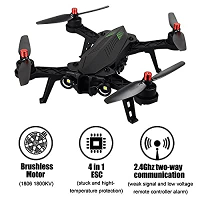 HB HOMEBOAT MJX B6 Bug 6 1600mkv Brushless Motor FPV Racing Drone Quadcopter,Real Time Transmission,2.4GHz 4 Chanel 6 Axis Gyro RC Quadcopter without Camera.