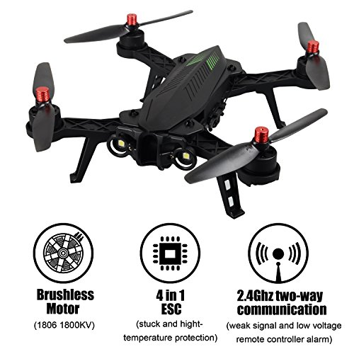 MJX B6 Bugs6 Drone Fawn before Transmitter Alarmfunktion Quadcopter Unterstützen GoPro Kameras und Sportkameras mit Brushless Motor / Ascent Perspicacity Battery / Verbessern Propeller von Lifetime4DEALS