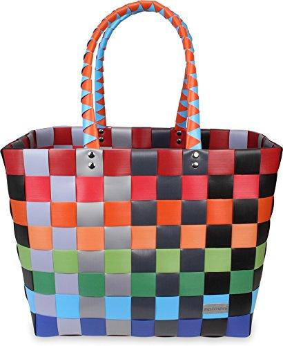 Einkaufskorb geflochten - wasserabweisend und robust Farbe Classic / Fruit