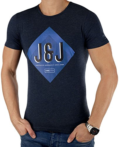 Sucht Tee (JACK & JONES Herren T-Shirt SUMMER-SALE verschiedene Modelle (XL, Blau NOW))