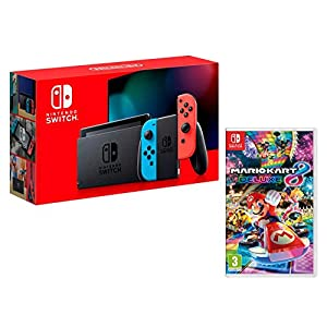 Nintendo Switch V2 32Gb Neon-Rot/Neon-Blau [neues model] + Super Mario Kart 8 Deluxe