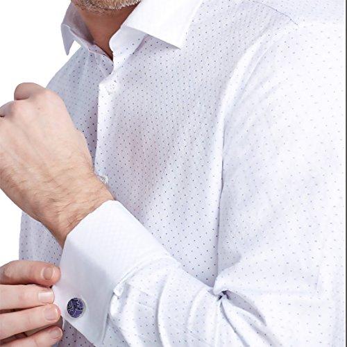 YA-BC-B.01 Hochzeitsfest-Paisley-Jacquardwebstuhl-Silk Krawatten für Verbindung Durch Y & G Violett - YACB0008-Purple,Dark Blue