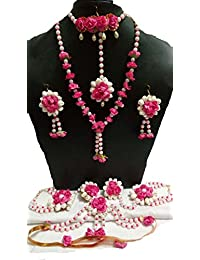 De Novo Pink Pearl Metal 6Pc Jewellery Set For Women