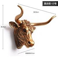 Indoor e outdoor Bull americano paese grande creativo decorazione porta parete parete parete decorazione della barra 24 * 35 * 21 cm,Retro oro