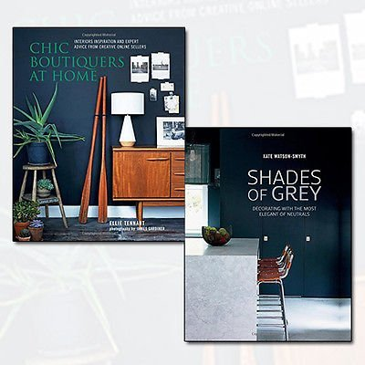 Chic Boutiquers at Home and Shades of Grey 2 Books Bundle Collection - Interiors inspiration and expert advice from creative online sellers,Decorating with the most elegant of neutrals