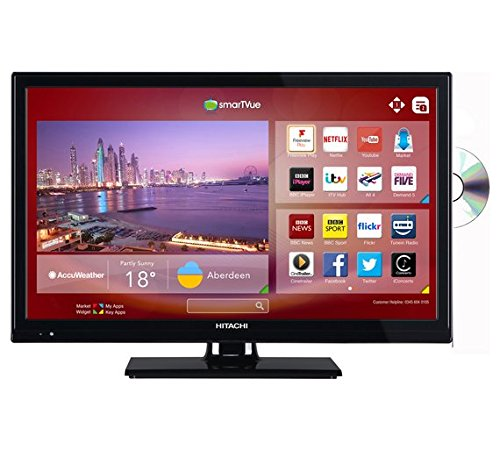 Hitachi 24 Inch HD Ready Freeview HD Smart TV/DVD Combi