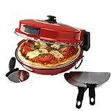 Giles & Posner EK2309 Italian Stone Baked Bella Pizza Maker Oven, 1200 W, Red