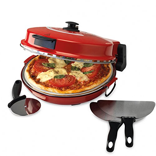 giles-posner-ek2309-bella-pizza-maker-1200-w-red