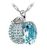 SCORPIUS GIFTS gioiello di cristallo strass collana ' Mela ' In sacchetto regalo in Organza gratis! -(LUCE BLU)